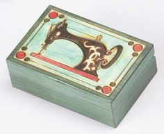 SEWING BOX, Beautiful Handmade Wood Art Keepsake Collector Box, Unique Masterpiece, Exclusive Gift, Made in Poland