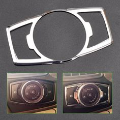 High Quality ABS Plastics & Chrome Fog Head Light Switch Button Cover Trim For Ford Focus Escape Kuga Edge 2011 2012 2013 2014
