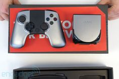 Unboxing the OUYA video game console running on Android.