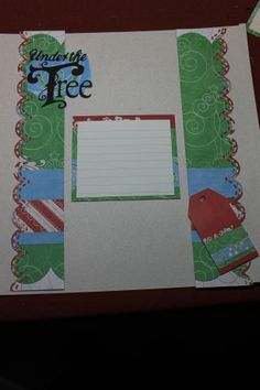"""Candy Cane paper with """"Merry Christmas"""" cut out using a setting from the CM 'Tis the Season Cricut cartridge"""