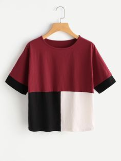 bbeb82d39ab Cut And Sew T-shirt -SheIn(Sheinside) Women s Fashion Dresses