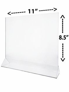 """Clear Table Tent Frame Advertisement Flyer Display 11"""" x 8.5""""  Counter Top Load #MarketingHolders"""
