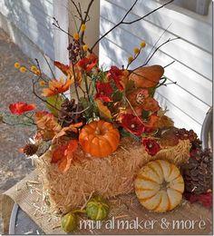 Fall-Front-Door-8 Pumpkin Table Decorations, Thanksgiving Decorations, Fall Decorations, Fall Crafts, Decor Crafts, Holiday Crafts, Holiday Ideas, Graveside Decorations, Fall Arrangements