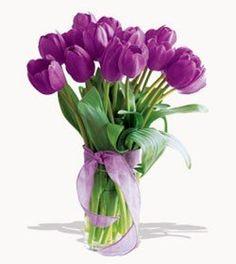 Purple Tulips Bouquet | Country Flowe... $65.00 #topseller