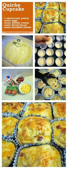 Quiche Cupcake (English)   Food Hacks Images #FoodHacks #Recipe