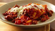 Do-Ahead Ravioli Sausage Lasagna recipe from Betty Crocker