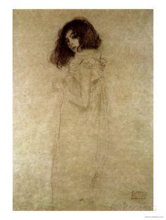 Portrait of a Young Woman, 1896-97 reproduction procédé giclée par Gustav Klimt sur AllPosters.fr