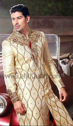 Lalit Khatri Wedding Sherwani 2015 For Men | Latest Designs Of Groom Sherwani