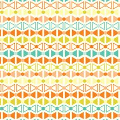"""Manufacturer: Westminster / Free Spirit (PWJM057Orange)   Designer: Jenean Morrison   Collection: Power Pop   Print Name: Pinkerton in Orange              Weight: Quilting   Material: Cotton   Width: 44/45 inches   Horizontal repeat: 6 inches      """"bowties"""" are approx. 0.5 inch wide    $7.20/yd"""
