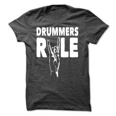 Drummers Rule T-Shirts, Hoodies. GET IT ==► https://www.sunfrog.com/Music/Drummers-Rule.html?id=41382