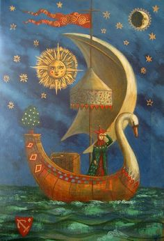 You know how it is... Sometimes we plan a trip to one place, but something takes us to another.   Rumi     Artist: Jake Baddeley, The Journey