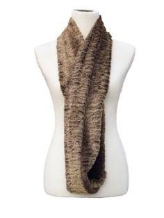 Fennco Infinity Faux Fur Loop Scarf (Brown, One Size) Fennco. $22.99