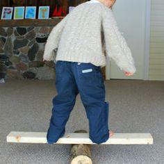 gross motor activity for preschoolers - log balancing!