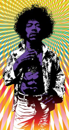 Jimi Hendrix  ~  My awesome brother in law was in the band T-Rex and knew the famous Jimi Hendrix.  Cool !