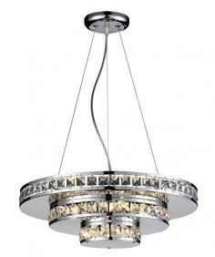 z-lite 883CH Ariel Crystal Chandelier in Chrome.