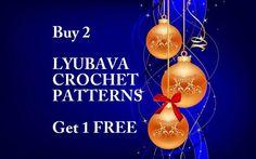 Lyubava Crochet Christmas Offer, Special Christmas Offer Buy 2 Crochet Patterns PDF Files Get 1 Free, Merry Christmas From Lyubava Crochet. $7.99, via Etsy.