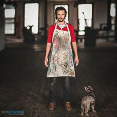 {portraits} Oliver Jeffers and his dog Scampi... 6 image Brenizer Method