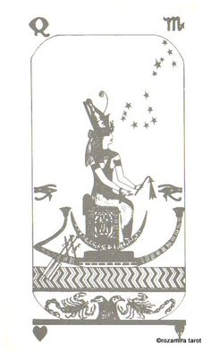 Queen of Cups - The Brotherhood of Light Tarot, (Authentic 1936) by The Sacred Tarot