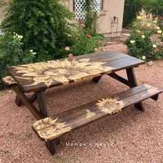 Warm Weather and sitting outdoors enjoying company is the best! So I have to head into town to get my yard pretty! I was at my local Lowe's scouti… Diy Teepee, Teepee Party, Easy A, Little Tikes Picnic Table, Diy Picnic Table, Painted Chairs, Chair Planter, Door Makeover, Gardens