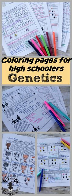 Genetics Unit Homework Pages Love this comprehensive high school genetics worksheet set. It has incomplete dominance, codominance, sex-linked traits, polygenic inheritance, epistasis and more in its 18 page set. This is all I need to give my students for Biology Classroom, Biology Teacher, Science Biology, Teaching Biology, Science Education, Life Science, Animal Science, Ap Biology, Physical Science