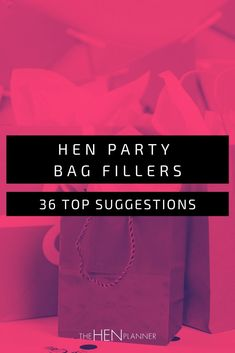 It's always a struggle knowing what to put in your hen party bags. If you're doing a DIY hen, here's some of our top suggestions. Hen Party Bags, Party Bag Fillers, Party Accessories, Perfect Party, Favors, Make It Yourself, Diy, Presents, Bricolage