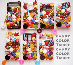 candy color ticket / fake sweets accessary