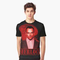 Sherlock, Tv Series, Red, Mens Tops, T Shirt, Style, Fashion, Supreme T Shirt, Swag