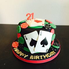 Casino cake by baking witch