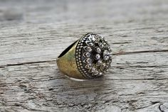 Boho statement ring - rustic ring, victorian ring, bronze statement ring, large ring, bronze cocktail ring, statement ring * FREE SHIPPING