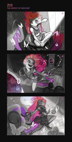 ArtStation - Zoe, the Aspect of Twilight, Jessica Oyhenart