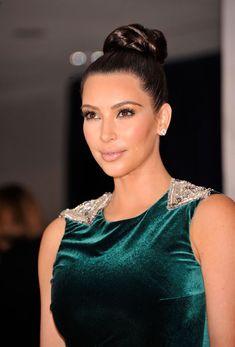 Kim Kardashian Braided Bun