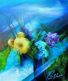 Raymond Poulet Floral Watercolor, Les Oeuvres, Aquarium, Amazing, Artist, Artwork, Florals, Board, Flowers