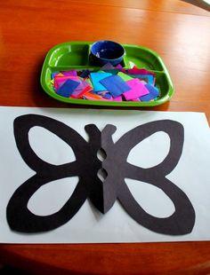 Tissue Paper Butterflies - Playdough To Plato