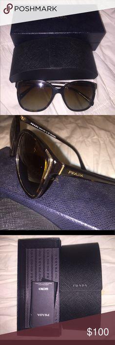 barely worn prada sunglasses tortuous shell, polarized Prada Accessories Sunglasses