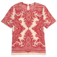cute madewell blouse would look great with a long gold necklace and dark jeans
