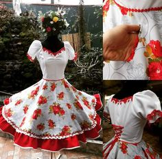 Dance Outfits, Dream Dress, Frocks, Chile, Beautiful Dresses, Free Pattern, Pin Up, Girls Dresses, Fashion