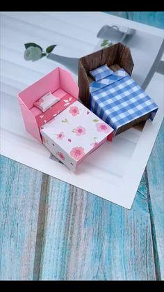 Diy Gifts Paper, Cool Paper Crafts, Paper Crafts Origami, Diy Crafts For Gifts, Diy Arts And Crafts, Fun Crafts, Creative Crafts, Instruções Origami, Diy Crafts Hacks