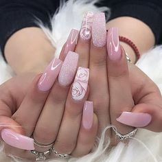 It& the summer time baby! Which is why we found 19 Super Fresh Nails to Rock Summer All of these nails are very fresh, trendy and looks absolutely stunning. The post 19 Super Fresh Nails to Rock Summer 2019 appeared first on Suggestions. Pink Nail Designs, Pretty Nail Designs, Pretty Nail Art, Acrylic Nail Designs, Nails Design, Nagellack Design, Nagellack Trends, Pink Acrylic Nails, Glitter Nails