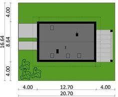 Projekt domu KA33 115,30 m² - koszt budowy - EXTRADOM Lockers, Bar Chart, Locker Storage, Home Decor, House, Decoration Home, Room Decor, Home, Locker