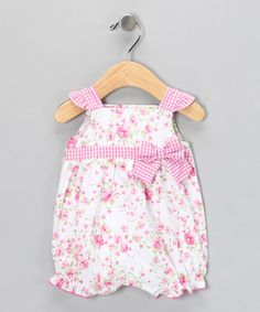 Take a look at this Pink Floral Romper by Little Me on #zulily today!