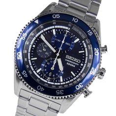 SEIKO Chronograph Motor Sport Herren Uhr SNDG55P1 Blue Dial 100m  #seiko #wristwatch #chronograph #sndg #blue