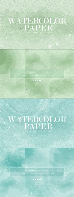 12 Watercolor Papers by OrangeFox on @creativemarket