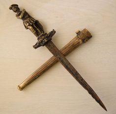 Vintage Scottish Masonic Freemasonry Ritual Sacrifice Brass Dagger Athame Wicca #Unknown