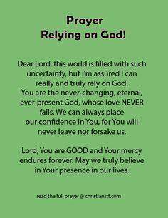 Prayer - Rely on God