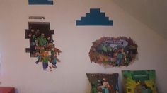 Minecraft, Kids Room, Children, Painting, Young Children, Boys, Kidsroom, Painting Art, Kid Rooms