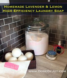 DIY Laundry Detergent for High Efficiency Machines | www.DoseOfJoy.com