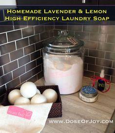DIY Laundry Detergent for High Efficiency Machines | www.DoseOfJoy.com