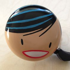 Love these handpainted bike bells for girls with an awesome kawaii style.