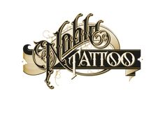 Hand drawn logotype for Noble Tattoo, Germany Tattoo Lettering Fonts, Graffiti Lettering, Types Of Lettering, Typography Letters, Typography Logo, Graphic Design Typography, Lettering Design, Logos, Word Design