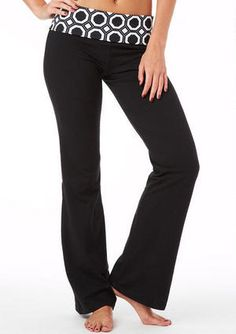 Stretch low-rise knit yoga pant with foldover waistband.
